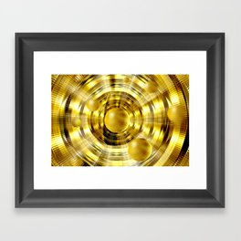 Abstract fantasy painting in gold. Framed Art Print