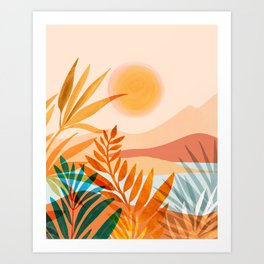 Golden Greek Garden Art Print