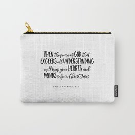 Philippians 4:7 Bible Verse Carry-All Pouch