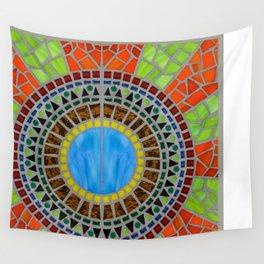 Color Wheel mosaic art Wall Tapestry
