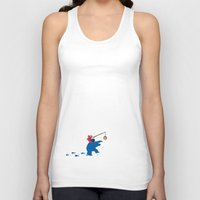 elmo Tank Tops featuring Cookie Monster Donkey - Lower Shirt Placement by OneWeirdDude