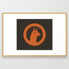 Orange Llama Framed Art Print