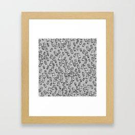 Rockwell Birds - Gray Framed Art Print