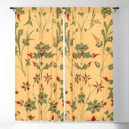 Floral Pattern Decor Ornaments Blackout Curtain