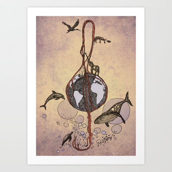 Earth melody Art Print