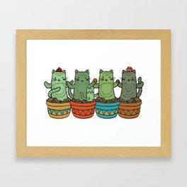 Catcus Garden (Single Row) Framed Art Print