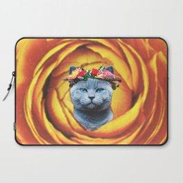 Flower Cat Laptop Sleeve