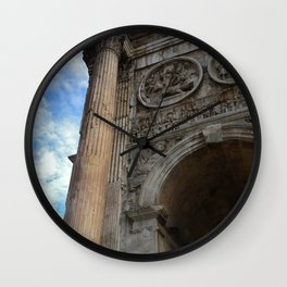 Arch Of Constantine, View 1 Wall Clock