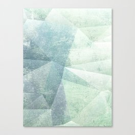 Frozen Geometry - Teal & Turquoise Canvas Print
