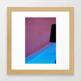 Black Lamp Blue Lavender Framed Art Print