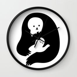 Death's Embrace Wall Clock
