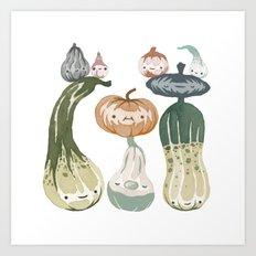 Courges Art Print