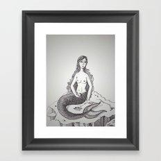 My-thology, the Mermaid Framed Art Print