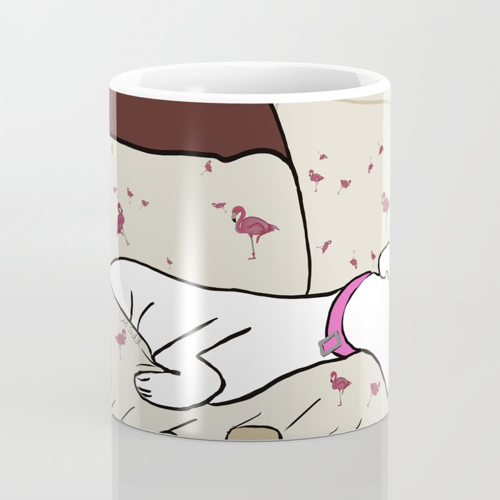 Dog In A Pile of Blankets Coffee Mug