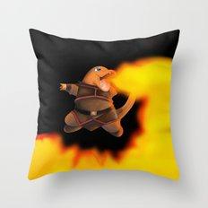 Firebending charmandar Throw Pillow
