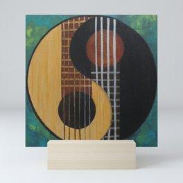 Guitar Yin Yang Mini Art Print