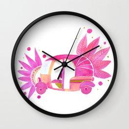 Pink and gold Groovy Rickshaw Wall Clock
