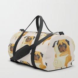 Pug Hugs Watercolor Duffle Bag