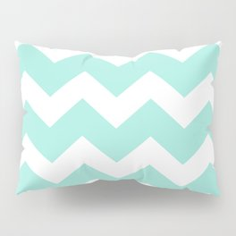 Green Chevron Pillow Sham