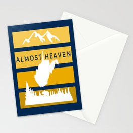 Almost Heaven West Virginia Retro Nature Print Stationery Cards