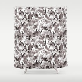 Painted Floral Shower Curtain