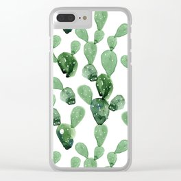 Cactus Life Clear iPhone Case