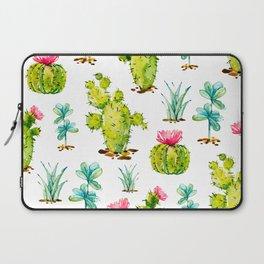 Green Cactus Watercolor Laptop Sleeve