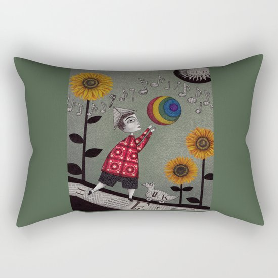 Henry's Rainbow Rectangular Pillow