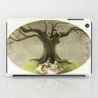 macaroons iPad Cases featuring Tea & Macaroons by Erika Meza