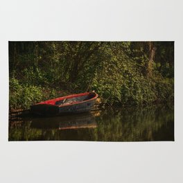 Dinghy On The Oxford Canal Rug