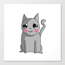 Cat with the Sad Eyes Canvas Print