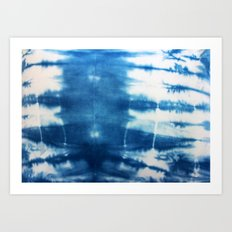 Horizontal Indigo Stripes Art Print