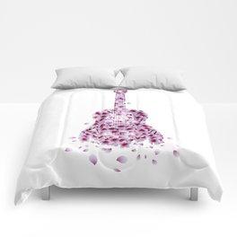 Flowers Guitar - pink I Comforters