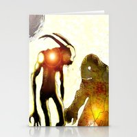 monsters Stationery Cards featuring Monsters by Ganech joe