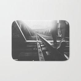 Train Tracks Bath Mat