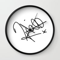 niall horan Wall Clocks featuring Niall Horan - One Direction by Moments Design