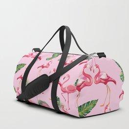 Flamingos Love Pattern 2 Duffle Bag