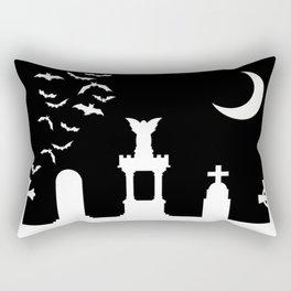 The Graveyard By Moonlight Rectangular Pillow