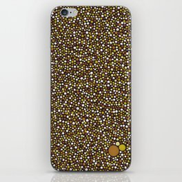 Yellow Dot Color Design iPhone Skin