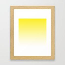 Yellow Light Ombre Framed Art Print
