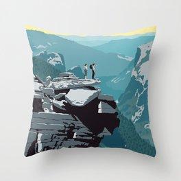 See America, Yosemite National Park Throw Pillow