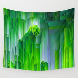 Nature Glitchin' - Abstract Pixel art Wall Tapestry