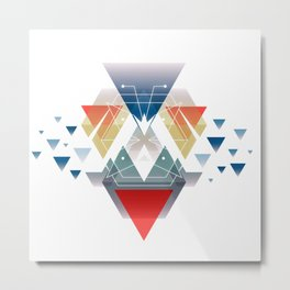 MidCentury geometric abstract nr OO7 Metal Print