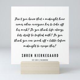 9     Søren Kierkegaard Quotes   190523 Mini Art Print