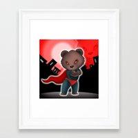 cartoon Framed Art Prints featuring cartoon  by Rituparna