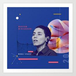 Beyond Curie: Maryam Mirzakhani Art Print
