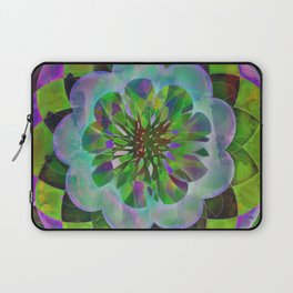 Purple & Green Spiro Laptop Sleeve