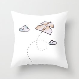 paperplane Throw Pillow