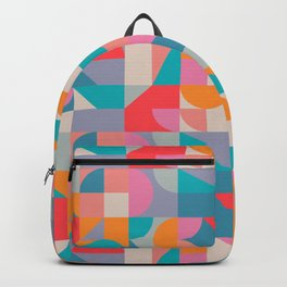 Mid Century Shapes N.04 / Colorful Summer Abstraction Backpack