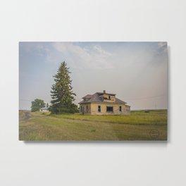 The Yellow House, Arena, North Dakota 1 Metal Print